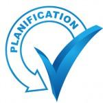 planification sur symbole valid bleu